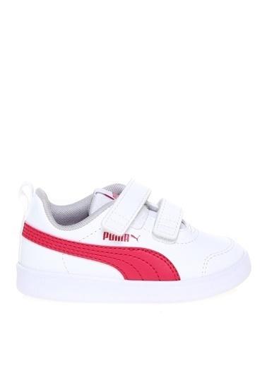 Puma Puma Kız Çocuk Beyaz - Pembe Düz Yürüyüş Ayakkabısı Beyaz